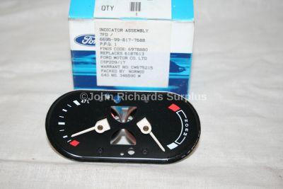 Ford Escort Dual Dash Clock 6978880
