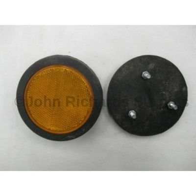 Rubbolite amber round reflector 3 bolt fixing 72/02/00