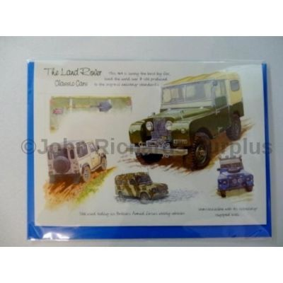 Blank Land Rover greetings card with envelope for any occasion