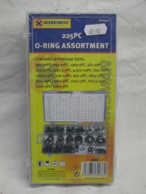 Marksman 225 Piece O Ring Assortment 62037C