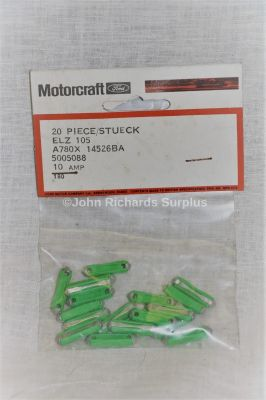 Ford Motorcraft 10amp Clay Fuses Pack x20 ELZ105