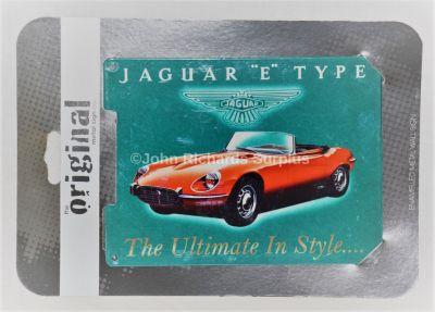 "Jaguar ""E"" Type Small Enamelled Metal wall sign"