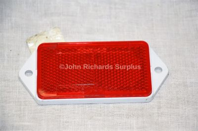 Rubbolite Oblong Rear Red Reflector with White Backing LAB751