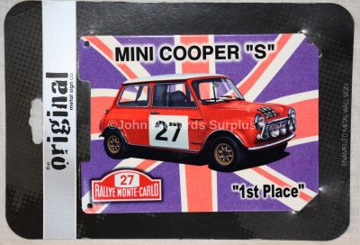 Mini Cooper S Union Flag Small Enamelled Metal wall sign