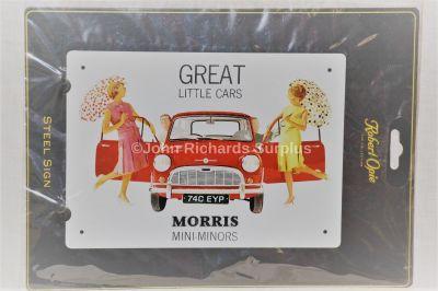 Morris Mini Minor Retro Metal Wall Sign Robert Opie