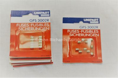 Unipart 2amp Radio Fuses 10 packs x 5 (50) GFS3002R