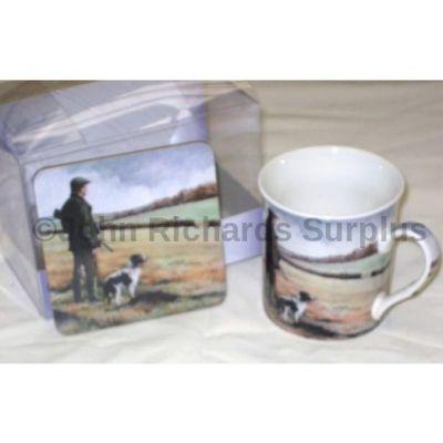 Countryside Collection Fine China Mug & Coaster Set Shooting Season