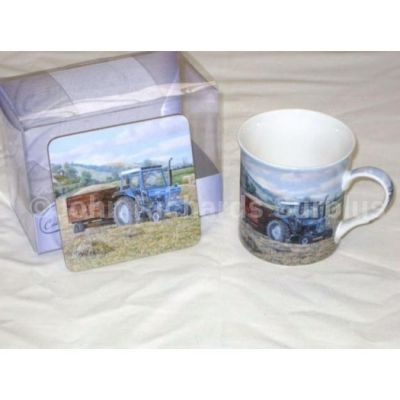 Countryside Collection Fine China Mug & Coaster Set Ford 5610 Tractor