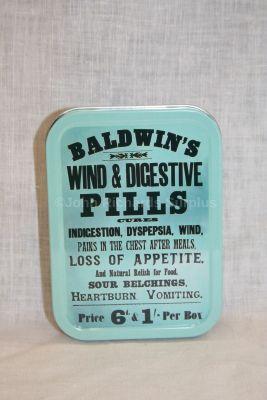 Tobacco Tin Baldwins Wind & Digestive Pills