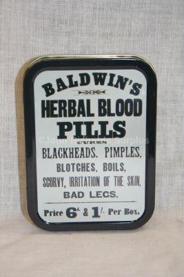 Tobacco Tin Baldwins Herbal Blood Pills