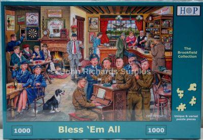 Bless Em All 1000 Piece Jigsaw Puzzle WW2 Pub Scene