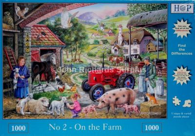 On The Farm Find the Difference 1000 Piece Jigsaw Puzzle David Brown Tractor