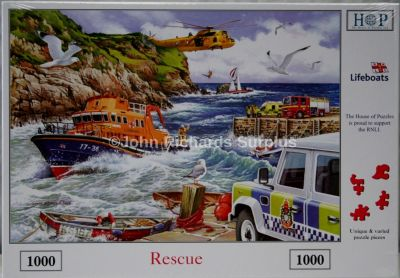 RNLI Rescue 1000 Piece Jigsaw Puzzle Land Rover with Life Boats