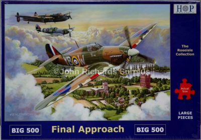 Final Approach Big 500 Piece Jigsaw Puzzle RAF WW2 Spitfire and Lancaster