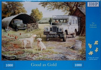 Good As Gold 1000 Piece Jigsaw Puzzle Land Rover