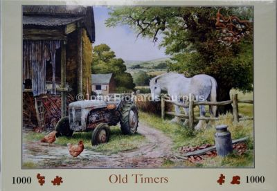 Old Timers 1000 Piece Jigsaw Puzzle Ferguson Tractor & Shire Horse