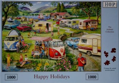 Happy Holidays 1000 Piece Jigsaw Puzzle Volkswagen Campers