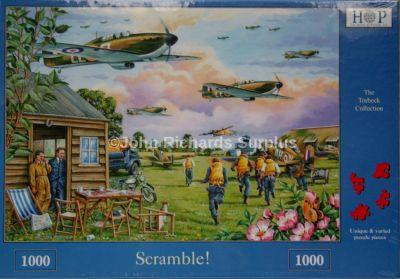 Scramble 1000 Piece Jigsaw Puzzle RAF WW2 Aircraft