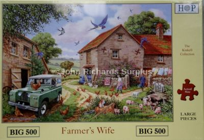 Farmer's Wife Big 500 Piece Jigsaw Puzzle Land Rover Series 2