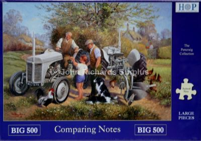 Comparing Notes Big 500 Piece Jigsaw Puzzle Ferguson Tractor
