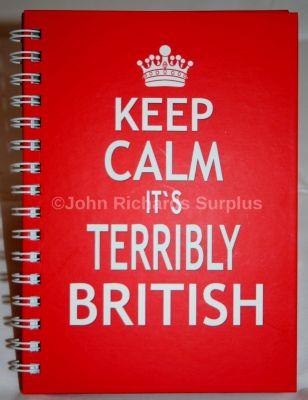 Keep Calm Hardback A6 notebook Terribly British