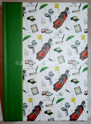 Golf Sports & Hobbies Hardback A5 notebook