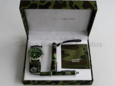 Armed Forces Watch Wallet Torch & Pen set