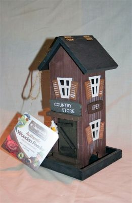 Kingfisher Authentic Wooden Bird Seed Feeder Country Store