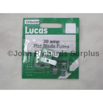 Lucas pack 3 30amp flat blade fuses CFB430