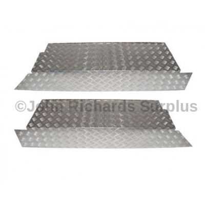 Defender 110 County Station Wagon Aluminium Rear Floor Side Pair Chequer Plate  P.O.A DA2064