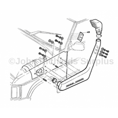 Discovery 1 200 Tdi Raised Air Intake Safari Snorkel P.O.A DA3015