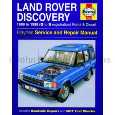 Haynes Discovery 1 Service and Repair Manual 1989 - 1998