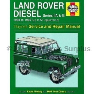 Haynes Series 2a & 3 Diesel Service and Repair Manual 1958 - 1985 NLA use DA4636