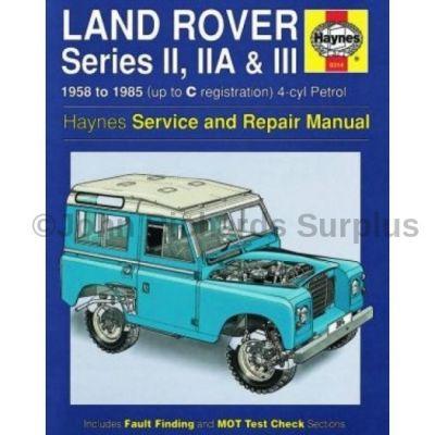Haynes Series 2, 2a & 3 Petrol Service and Repair Manual 1958 - 1985