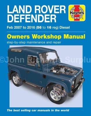 Haynes Defender Owners Workshop Manual 2007 - 2016
