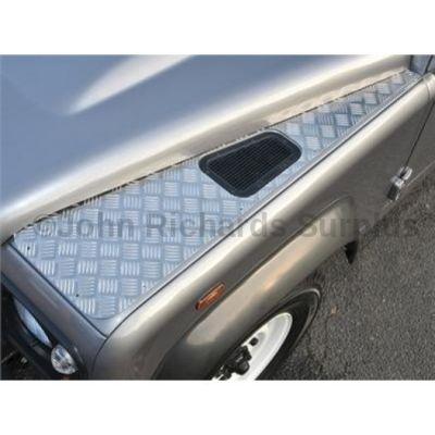 Defender Wing Top Aluminium Chequer Plate Pair P.O.A DA4049