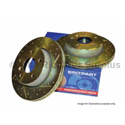 Britpart Performance Front Vented Brake Disc Pair P.O.A DA4602