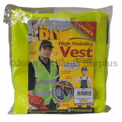 Hi visibility waistcoat vest with reflective strips conforming to EN471.