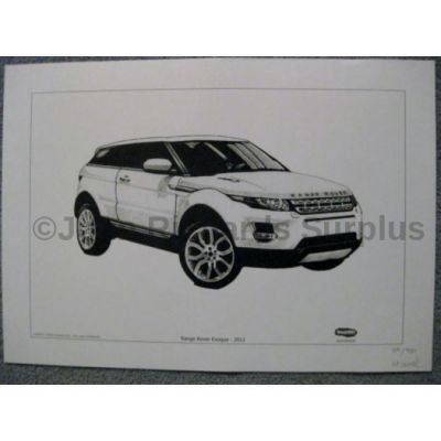 Range Rover Evoque 2011 signed reproduction print