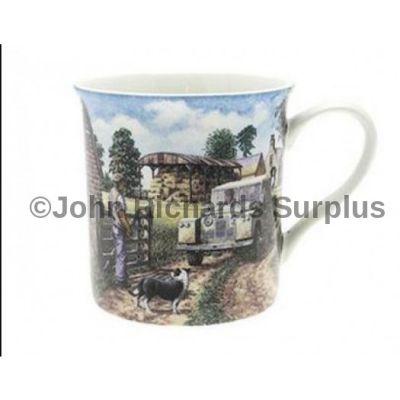 Fine Art mug Land Rover series 2 at the farm gate