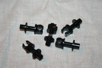 """Land Rover Series and Defender Single 1/4"""" Plastic Pipe Clip Various Applications Pack x5 79123"""