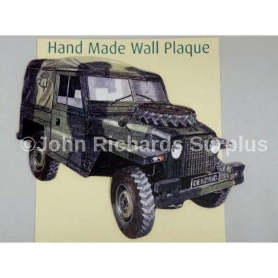Handmade wooden wall plaque Land Rover Lightweight Series 2A