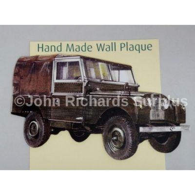 Handmade wooden wall plaque Land Rover Series 1 86/88