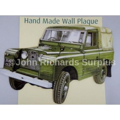 Handmade wooden wall plaque Land Rover Series 2 Pick Up