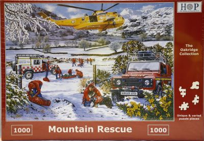 Mountain Rescue 1000 Piece Jigsaw Land Rover Defenders & Sea King Helcopter