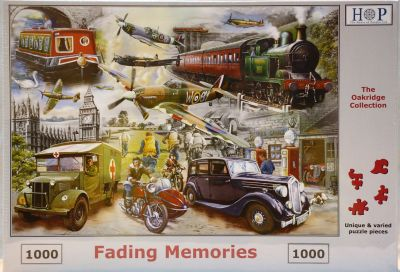Fading Memories 1000 Piece Jigsaw Puzzle Planes Trains & Automobiles