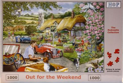 Out For The Weekend 1000 Piece Jigsaw Country Drive in The MG's