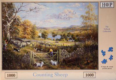 Counting Sheep 1000 Piece Jigsaw Ferguson Tractor Ploughing