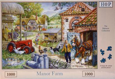 Manor Farm 1000 Piece Jigsaw Puzzle David Brown Tractor & Shire Horse