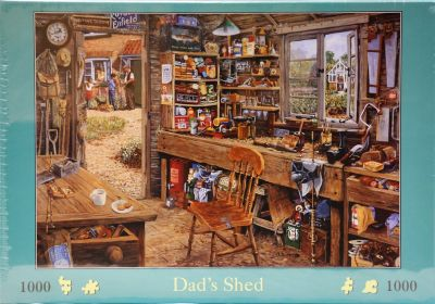 Dad's Shed 1000 Piece Jigsaw A Mysterious Place!